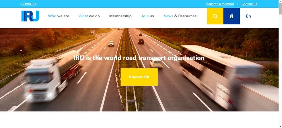 آدرس سایت اتحادیه بین المللی حمل و نقل جاده ای ایرو